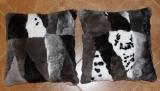 Kuschelkissen Rex-Kanin grau 50 x 50